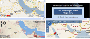 Bing,Yahoo and Google Maps, side-by-side