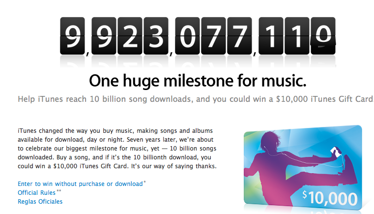 iTunes 10 Billion Downloads