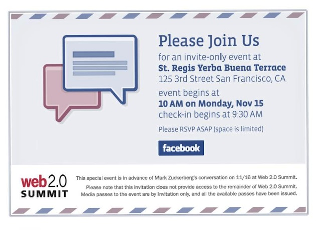 Facebook Media Invite