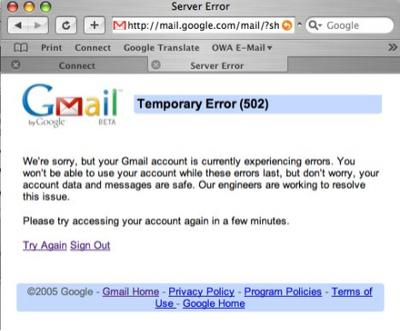 gmail-outage halloween